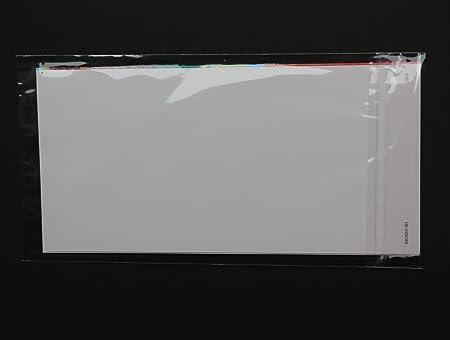 Klappe Schutzhüllen glasklar für DIN Lang Format 116x225 Verschluss 300 St