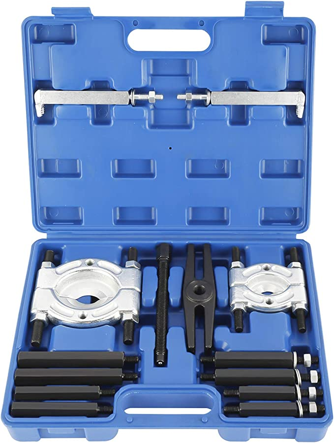 Bearing Separator Set,14pcs Bearing Removal Tool Kit Auto Gearbox Bearing Puller Separator Set Alloy Steel Removal Bar Disassembly Tool