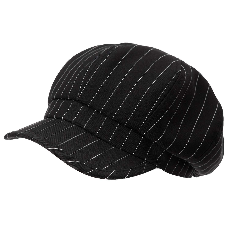 MEIZOKEN Spring Newsboy Caps Hats Women Striped Print Cotton Elegant Adjustable Summer Berets Hats Girls