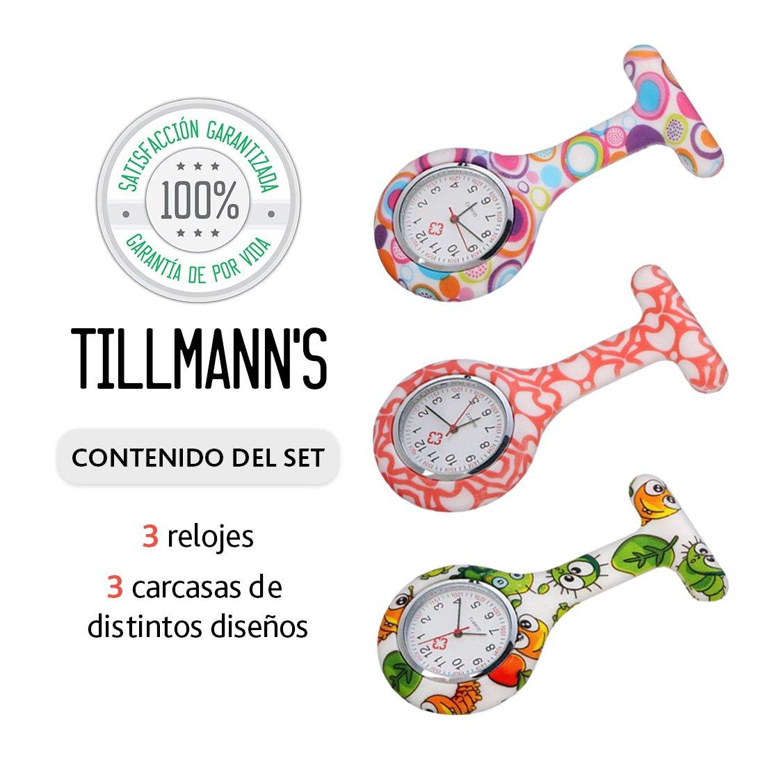 30f2680505b0 Tillmann s® Reloj Enfermera 3 unidades - Relojes De Enfermera - Reloj  Bolsillo Enfermera - Relojes De Enfermeria  Amazon.es  Relojes