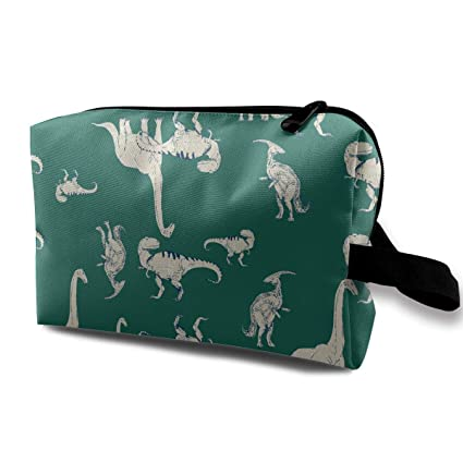 Dino Dinosaurios Patrón verde Bolsas de cosméticos pequeñas ...