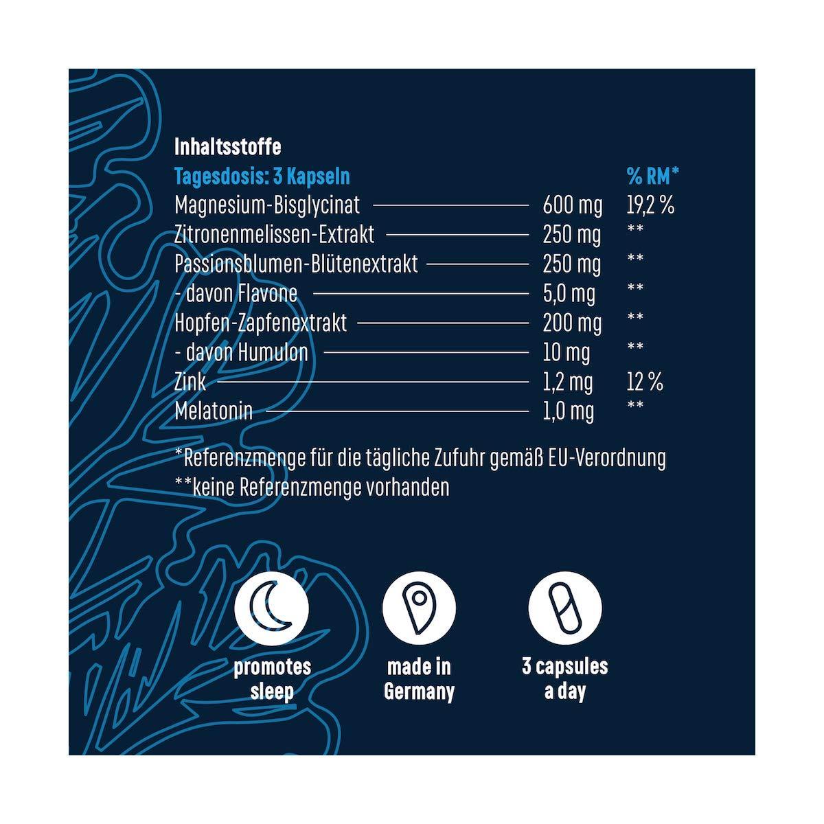 Deep Sleep - Melatonina - Sueño Reparador - 90 Cápsulas Veganas: Amazon.es: Salud y cuidado personal