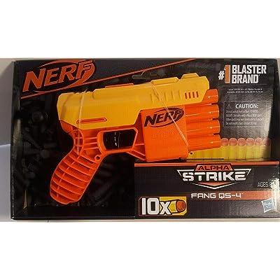 Nerf Alpha Strike FANG QS-4 4 Dart Blaster 10 Darts w/ 10 Darts: Toys & Games