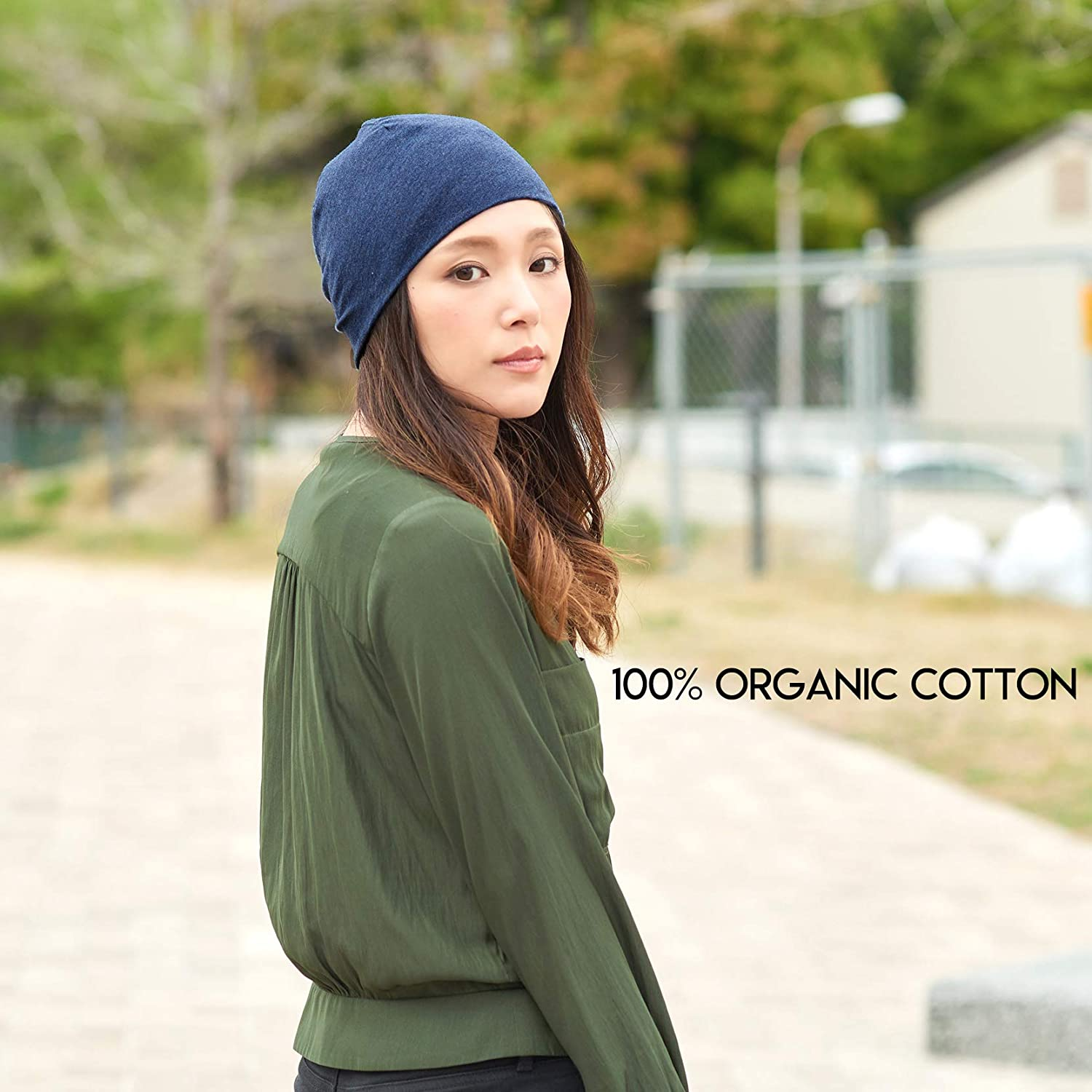 38d4702af90 Amazon.com  CHARM 100% Organic Cotton Beanie - Soft Chemo Hat Tight Fit  Sensitive Skin Cap Medical Wear Snug Form Fitting Unisex Black  Clothing