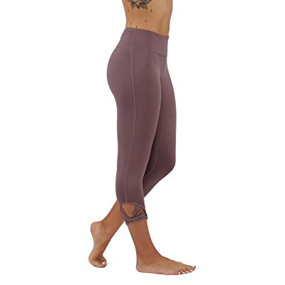 5StarsLine Yoga Leggings Workout Pants With Webbed Straps Detailing On Sides and Hidden Key Pocket Running