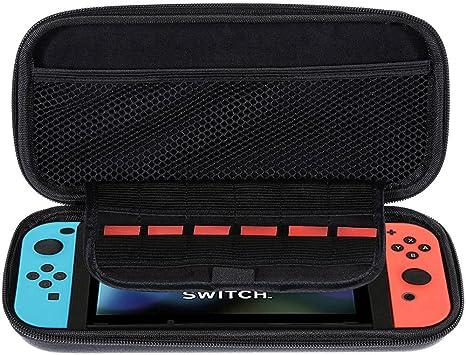 Lictin Funda para Nintendo Switch, Keten Estuche de Transporte de Consola Nintendo Switch – NEGRO Funda Dura de Viaje para Llevar la Nintendo Switch y Sus Accesorios: Amazon.es: Videojuegos