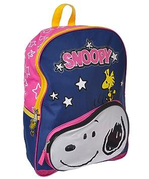 Peanuts Snoopy Front Pocket with Woodstuck Kids 16 School Backpack Bag by Peanuts: Amazon.es: Juguetes y juegos