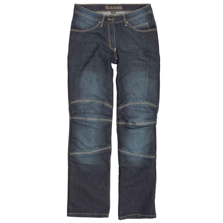 Azul Lavado XL Racer Cordura Kevlar Stretch Jeans