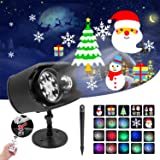 Christmas Light Projector Outdoor 2-in-1 Ocean Wave Led Landscape Lights with Remote Control, No Slide, Waterproof, 9…