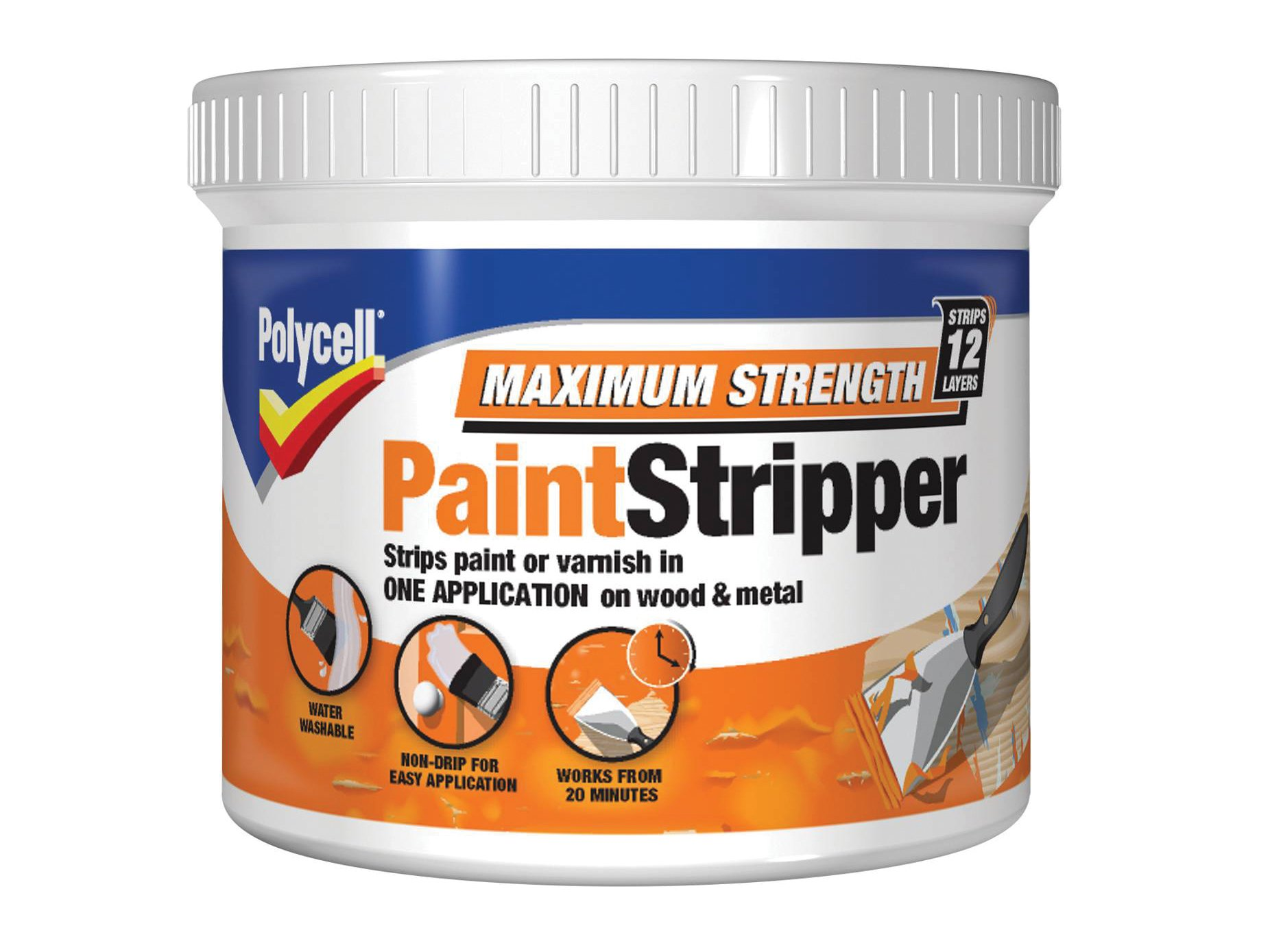Polycell MSPS500 500ml Maximum Strength Paint Stripper by Polycell