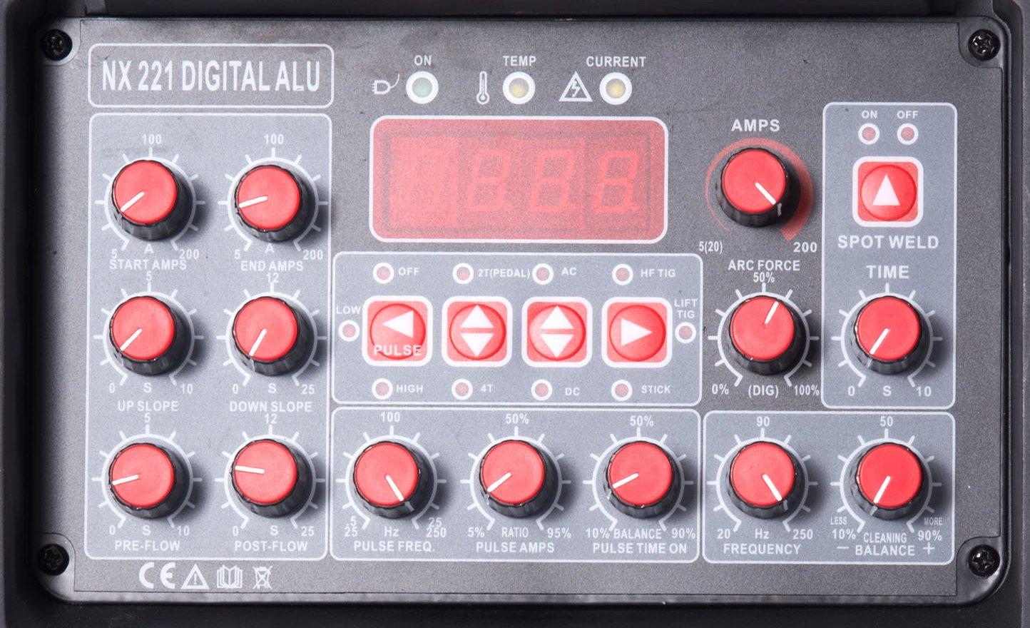 Equipo Inverter para soldadura TIG ACDC 200 A Modo de pulsación digital NX 221 Digital Alu 10 Prog.: Amazon.es: Hogar
