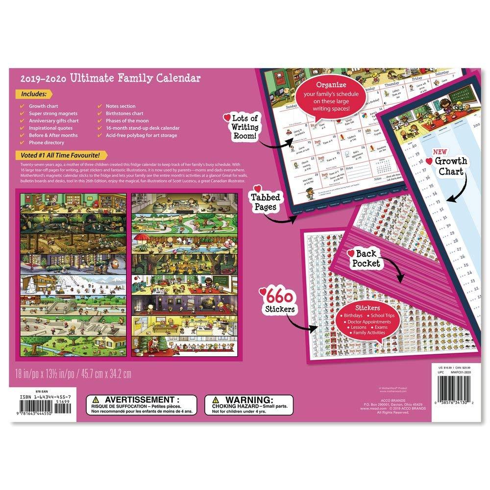 Family Calendar 2020 Amazon.: 2020 MotherWord Wall Calendar   Ultimate Family