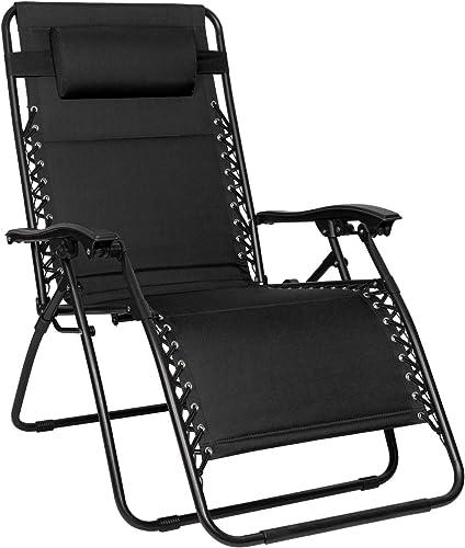 Devoko Zero Gravity Chair Outdoor Folding Lounge Chair Oversized Weight 420 Lbs Capacity Patio Recliner Chair