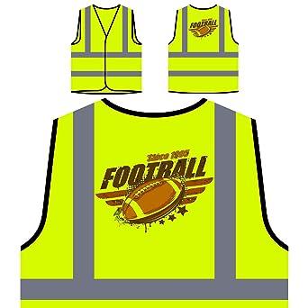 fútbol americano vintage Chaqueta de seguridad amarillo ...