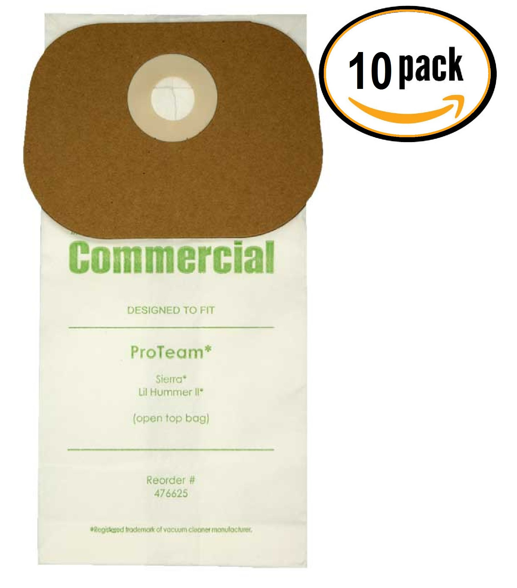 PRO 10 ProTeam Sierra, Lil Hummer Micro-Lined Commercial Backpack Bags, 10 Bags.