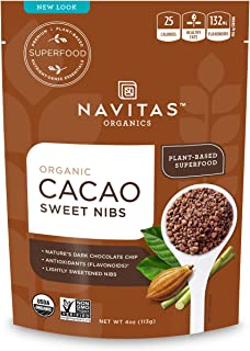product image for Navitas Organics Cacao Sweet Nibs, 4 oz. Bag — Organic, Non-GMO, Gluten-Free