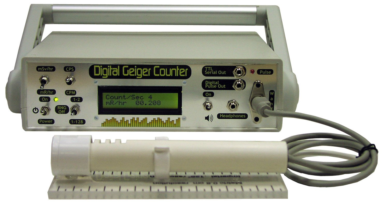 DTG-01 Desktop Professional Geiger Counter Nuclear Radiation Detection Monitor with Digital Meter and External Wand Probe - NRC Certification Ready- 0.001 mR/hr Resolution - 1000 mR/hr Range