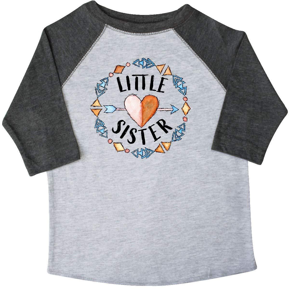inktastic Little Sister Circle Toddler T-Shirt Arrow Heart