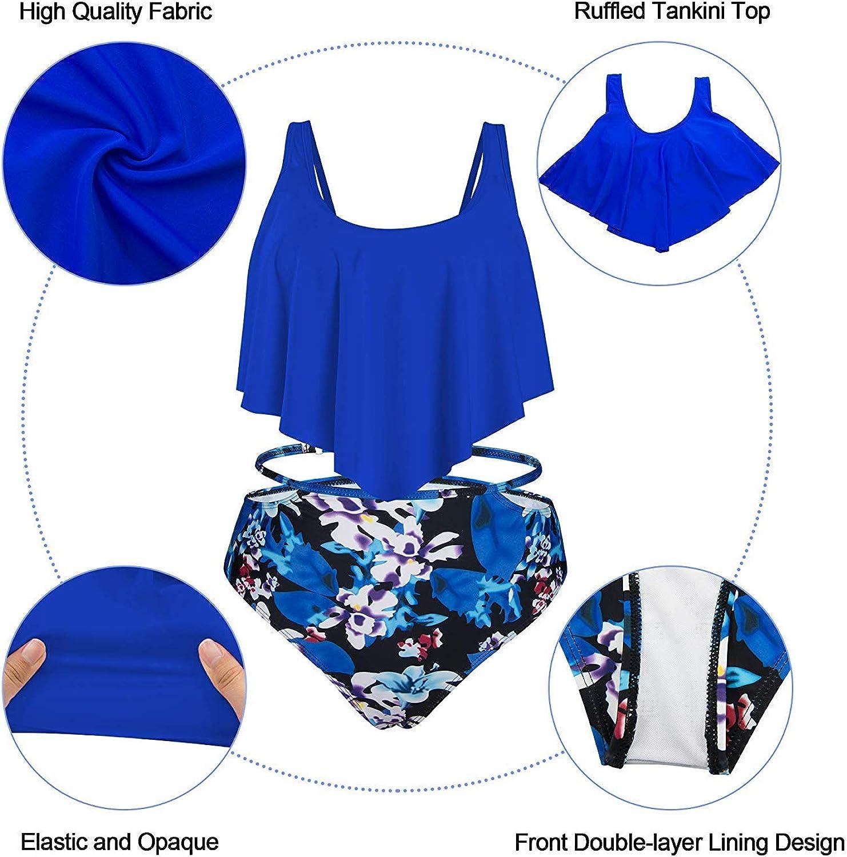 Century Star Two Piece Swimsuit Flounce Ruffled Bikini High Waist Bathing Suit for Women CUB1S2766G0000SN