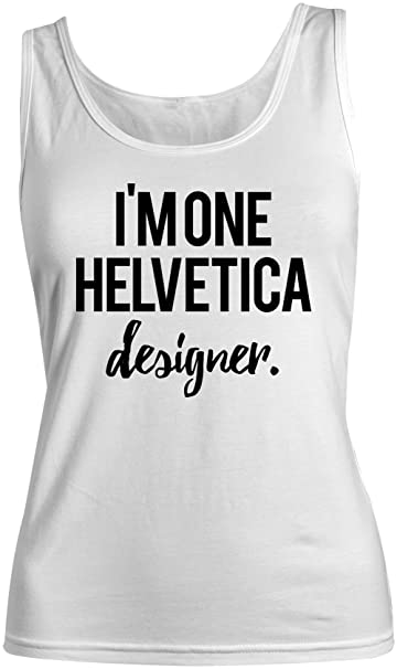 315086efa7acc Amazon.com  I m One Helvetica Designer Women s Tank Top Sleeveless ...