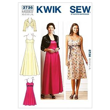 Amazon.com: Kwik Sew K3736 Dresses and Jacket Sewing Pattern, Size ...
