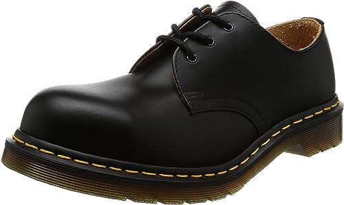 3-Eye Fashion Steel Toe Leather Shoe
