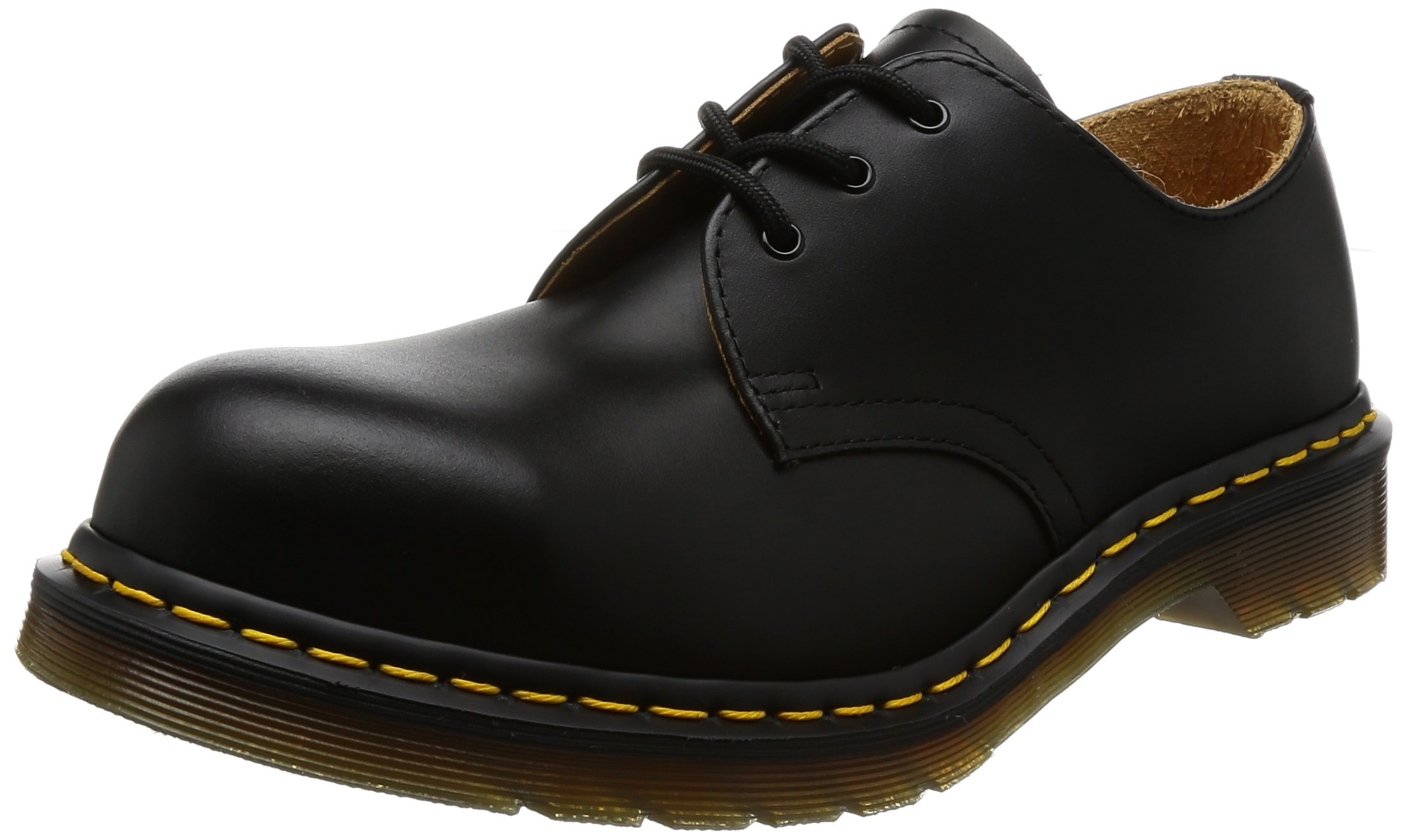 Dr. Martens Original 3 Eye Steel Toe Gibson,Black Fine Haircell,6 UK (US Men's 7 M/Women's 8 M)