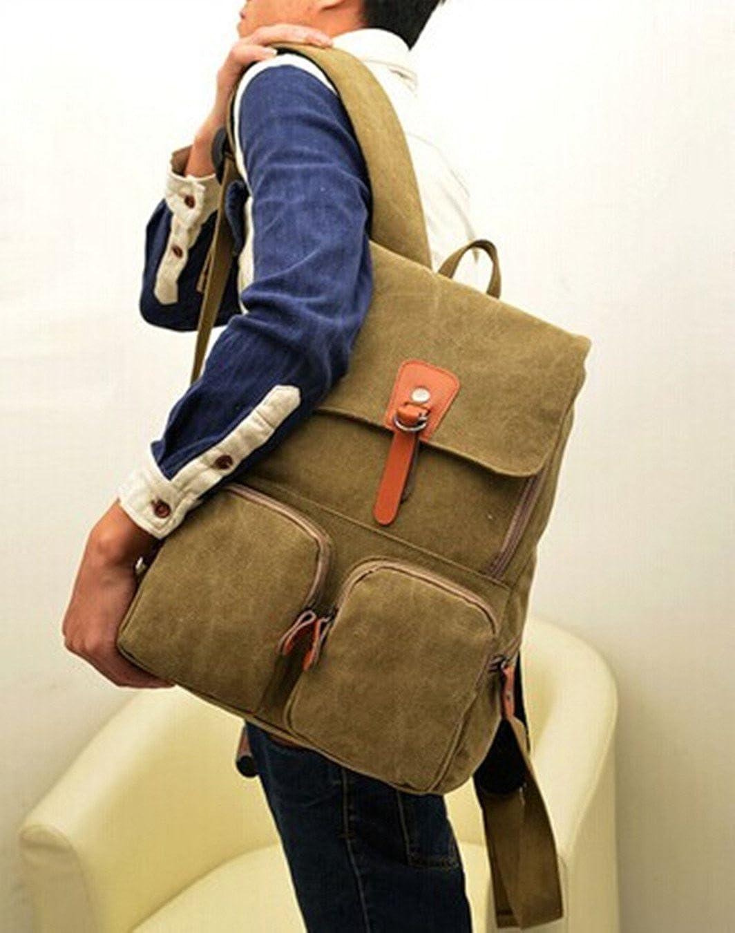 LIMATRY Fashion casual canvas shoulder bag Khaki