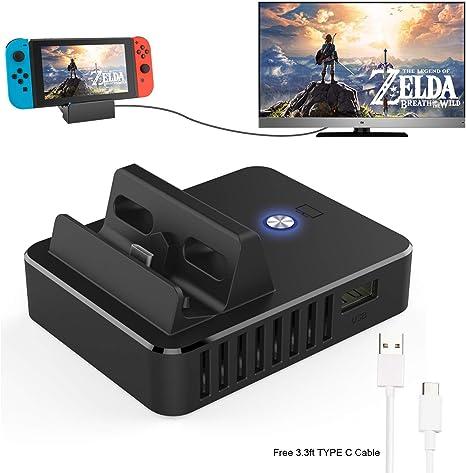 Switch TV Dock, Mini Soporte de Carga portátil para Nintendo ...
