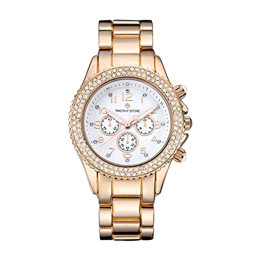 Timothy Stone Collection Amber Stainless - Reloj Mujer de cuartzo, Color Oro Rosa