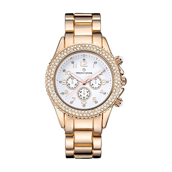 Timothy Stone Collection Amber Stainless - Reloj Mujer de cuartzo, Color Oro Rosa: Amazon.es: Relojes