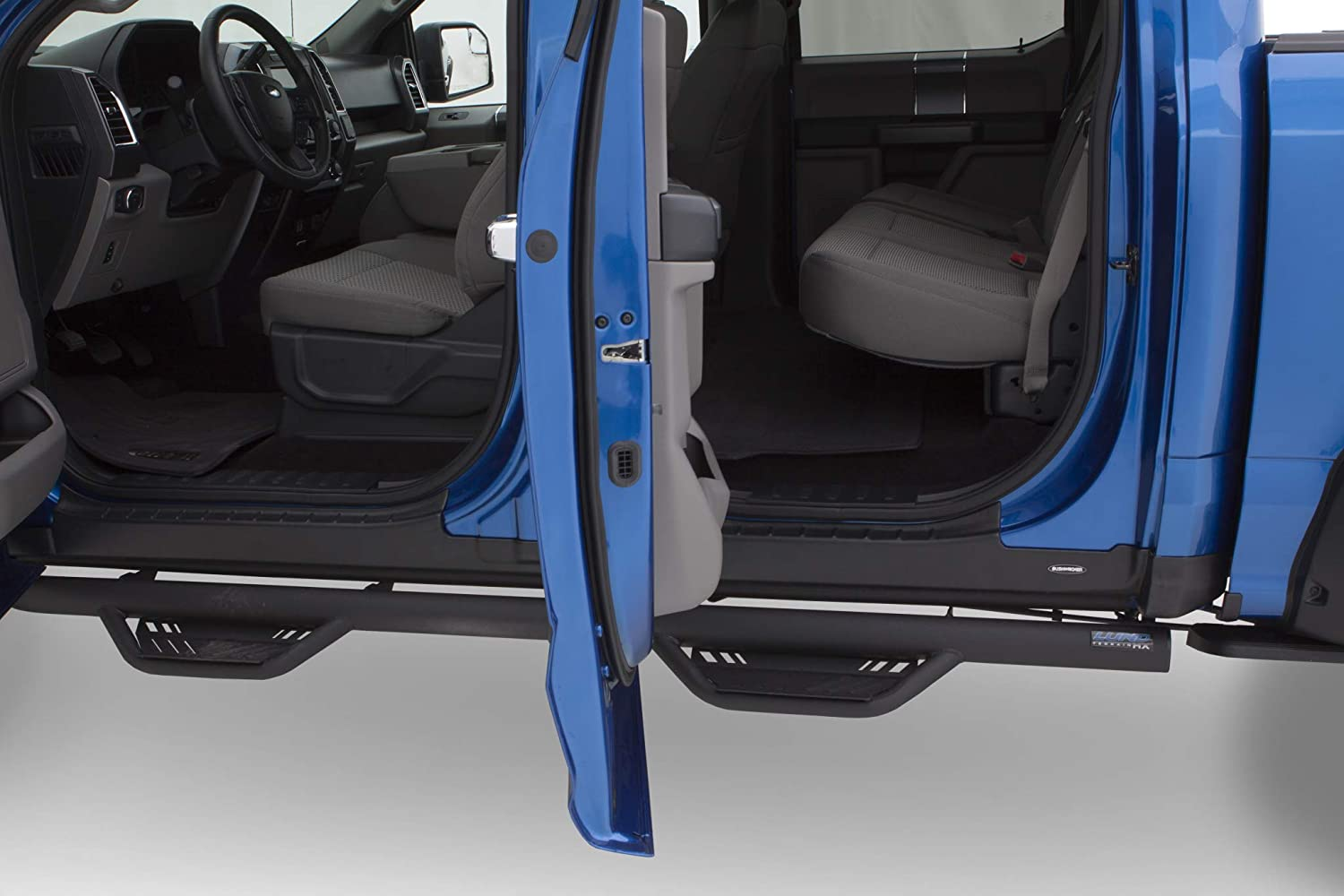 Bushwacker 14081 Black Trail Armor Rocker Panel for/2015-2019 Ford F-150 with Extended Cab