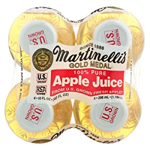 Martinelli Apple Juice, 10 Ounce, 4 Count (Pack of 6)