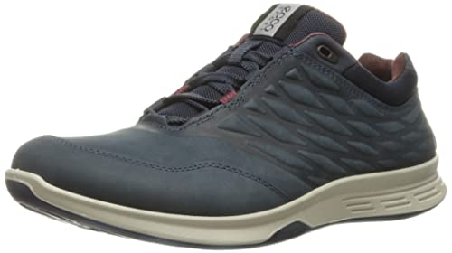 Ecco Men's Exceed Low Walking Shoe Fashion Sneaker, Marine, 39 EU/5-