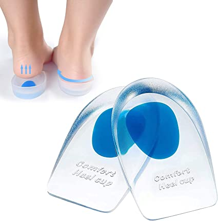 2PCS Silicone Gel Heel Cushion Protector Foot Care Shoe Insert Pad Insole USA