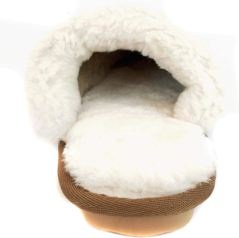 Size 6 Sheepskin Comfort Scuff Slippers surell Womens Genuine Shearling Scuffs Slip On Soft Sole Moccasin Brown