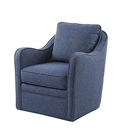 Stupendous Madison Park Brianne Swivel Chair Solid Wood Plywood Metal Base Accent Armchair Modern Classic Style Family Room Sofa Furniture 29 5 Wide Navy Onthecornerstone Fun Painted Chair Ideas Images Onthecornerstoneorg