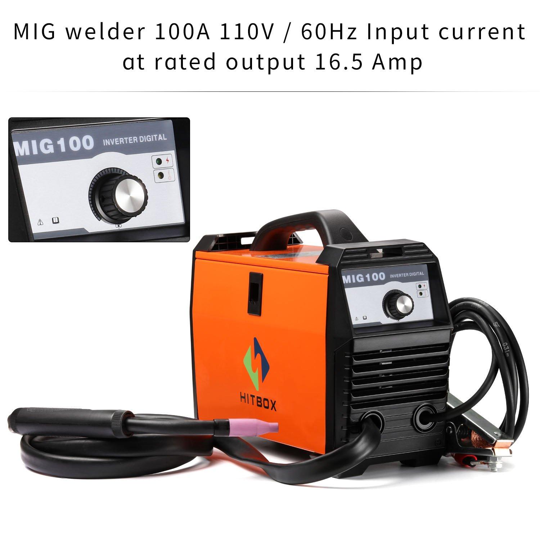 MIG Welder 110V MIG Welding machine 100A Flux Cored 100 Amp DC Mini ...
