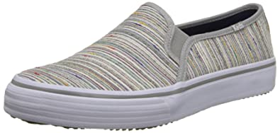 b13a51177d264 Keds Women s Double Decker Woven Rainbow Stripe Slip-On Sneaker