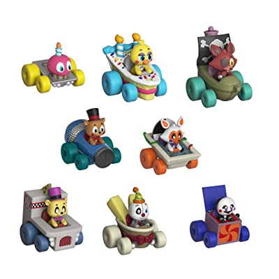 Funko FNAF Super Racers Set of 8: Foxy The Pirate, Chica, Cupcake, Ennard, Funtime Freddy, Golden Freddy, Lolbit, and Marionette: Toys & Games