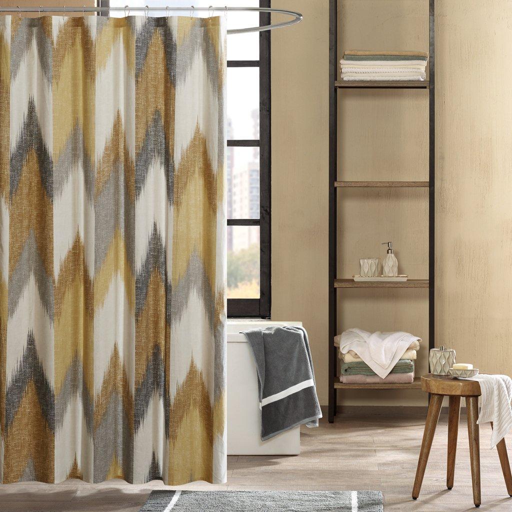 Amazon Ink Ivy Cotton Printed Shower Curtain 72x72 Aqua Home Kitchen