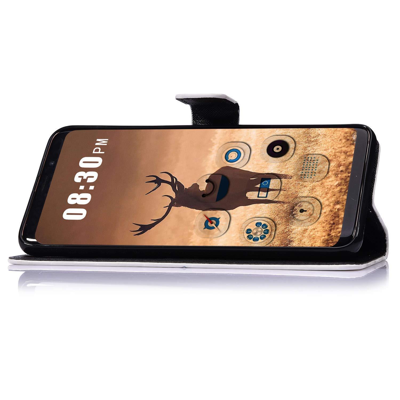 Saceebe Compatible avec Samsung Galaxy S10e Housse de t/él/éphone Housse Etui Portefeuille Cuir Coque Brillante Bling Glitter 3D Motif Folio Stand Pochette Wallet Coque,Rose Brillant