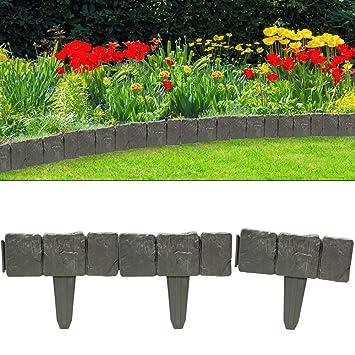 Set de 10 bordures ardoises délimitation jardin pelouse plate-bande ...