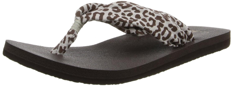 Sanuk Yoga de la Mujer Slinger Flip-Flop, Beige (Cheetah), 9 ...