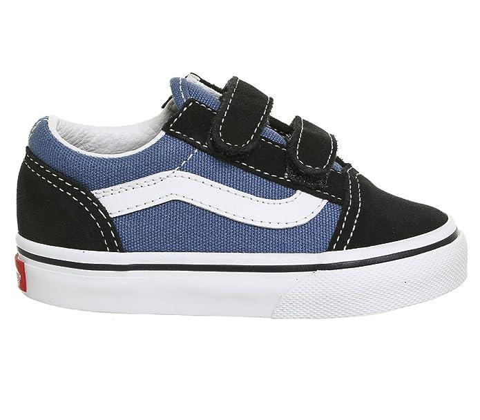Vans Unisex Baby Sneakers Old Skool Klettverschluss Navy Blau