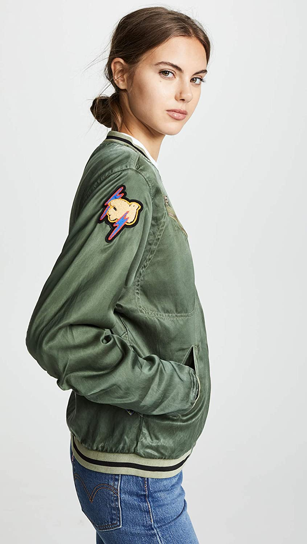 FREECITY Womens Satin Jump Jacket