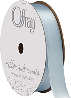 "product image for Berwick Offray 064559 5/8"" Wide Single Face Satin Ribbon, Light Blue, 6 Yds"