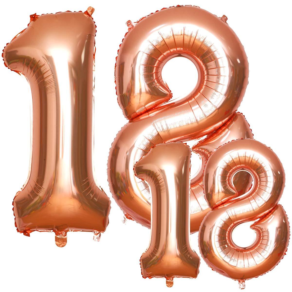 18 Luftballons Zahl Mit Helium Simike Luftballon 18 Geburtstag In 2