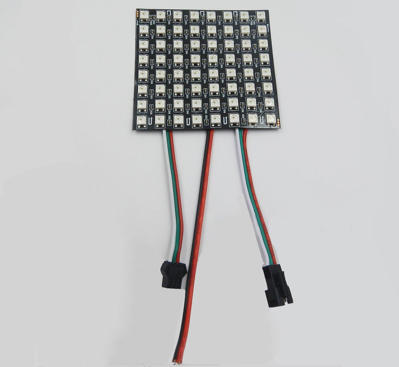 Amazon.com: Visdoll WS2812B 5050 RGB LED Panel de dispalidad ...