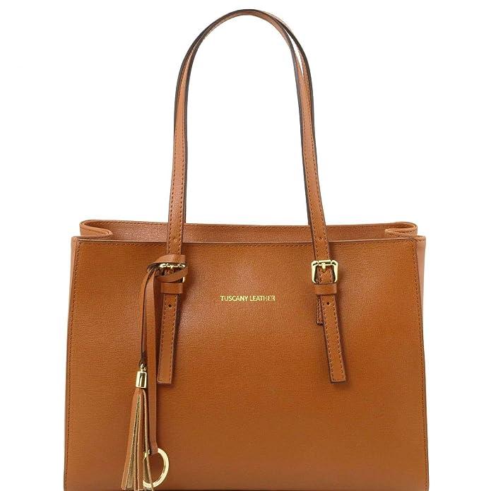 Tuscany Leather TL Bag Sac à main en cuir Saffiano Cognac ZPbvxCj